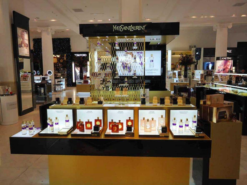 Bespoke Addlux LED Light Sheet illuminating cosmetic products