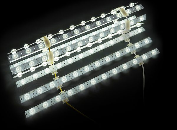 Astrolux LED backlighting kit switched on